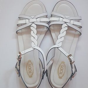 9c22adb9f Tod s Shoes - Tod s White Patent Leather Sandals Flats